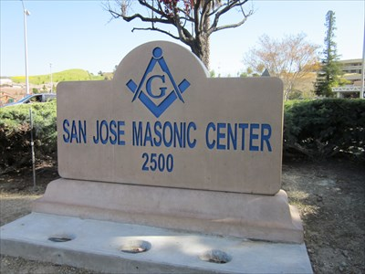 San Jose Masonic Center street marker